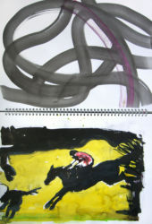 Study for Race Horse Painting
